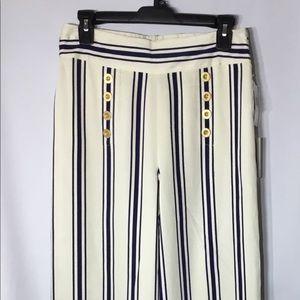 1. State Striped High Waist Sailor Pant Sz S.